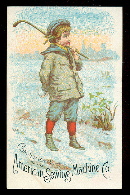 Hockey / Shinty Postcard 1880s