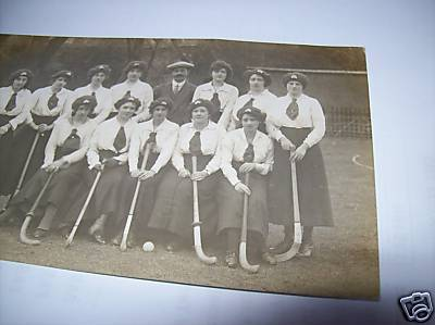 Hockey Postcard 1900s Field Hockey Ireland