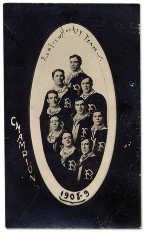 Renfrew Hockey Team Postcard 1908-09 Champions