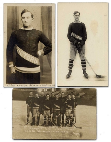 Victoria Aristocrats Hockey Team 1912 to 1913 postcards