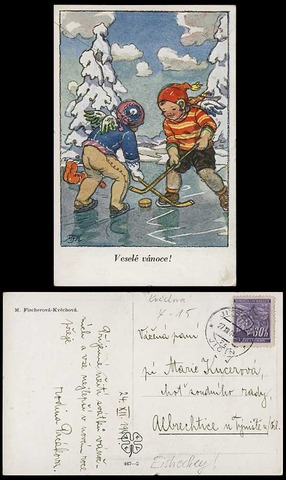 Hockey Postcard 1941