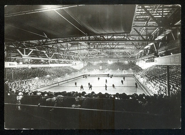 Hockey Postcard 1964 Ostrava Stadium Czech