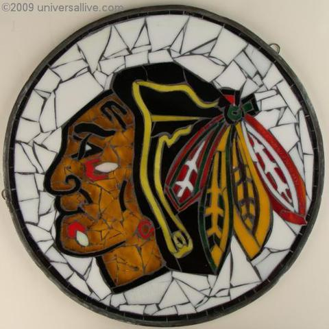 Hockey Stained Glass By Khaim Pinkhasik