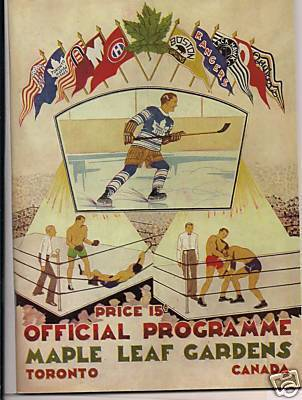 Maple Leaf Gardens Hockey Program 1931