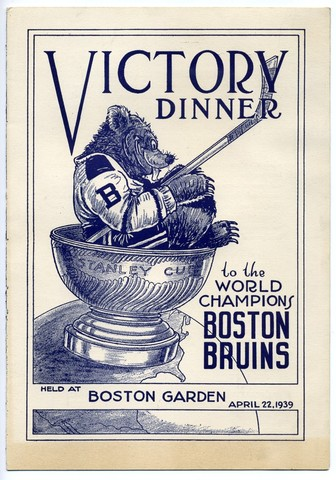 Boston Bruins Ice Hockey Program 1939   Victory Dinner