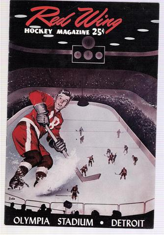 Ice Hockey Program 1954   Olympia Stadium