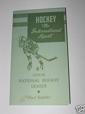 Ice Hockey Program 1959  Final Statistics