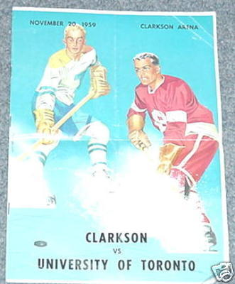 Ice Hockey Program 1959  Clarkson Arena