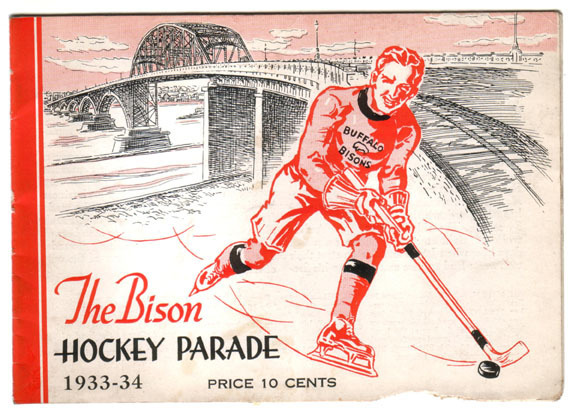 Buffalo Bisons Ice Hockey Booklet Cover 1933 - 34