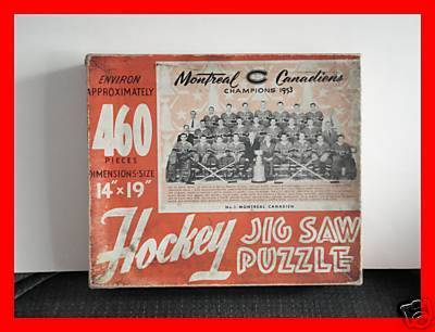 Montreal Canadiens Ice Hockey Jig Saw Puzzle 1953  Box