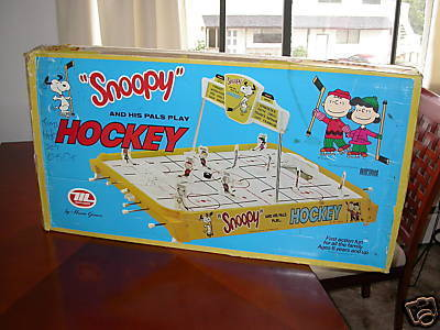 Table Top Hockey Game  Snoopy