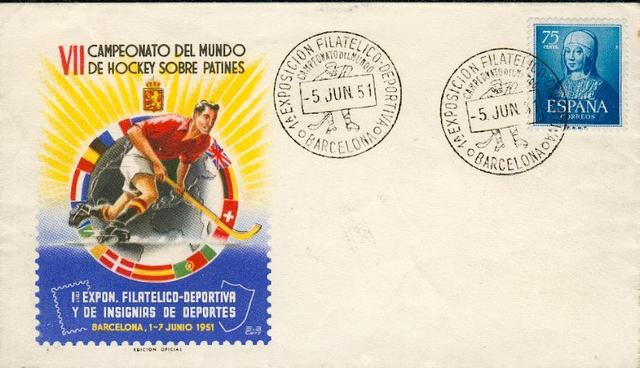 Roller/Quad Hockey Stamp Fdc 1951 2  World Championships