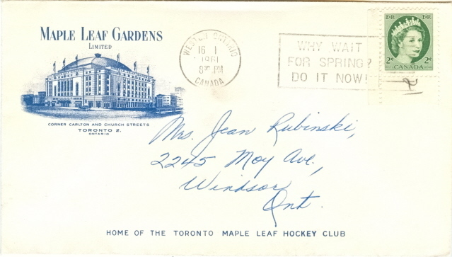 Hockey Stamp Fdc 1961 3
