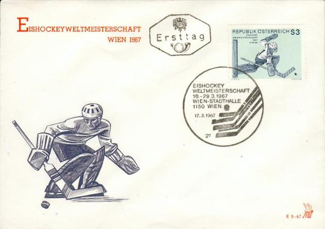 Hockey Stamp Fdc 1967 1