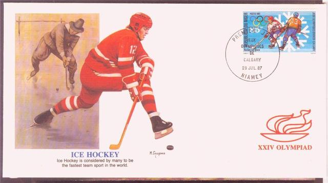 Hockey Stamp Fdc 1987 2