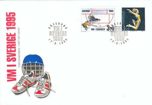 Hockey Stamp Fdc 1995