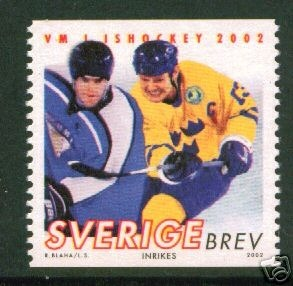Hockey Stamp 2002 Sweden