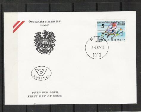 Hockey Stamp Fdc 1987 X