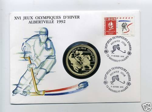 Hockey Stamp Fdc 1990 Olympics