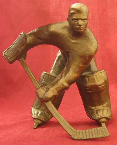 Ice Hockey Statue 1960s Russia a