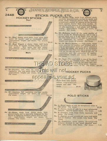 Hockey Stick Ad 1922