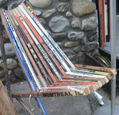 Hockey Stick Chair
