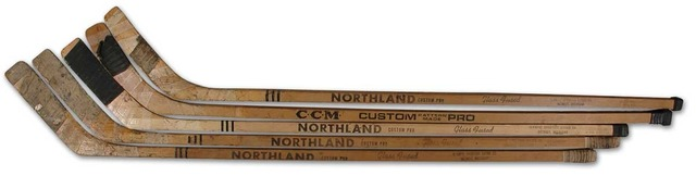 Hockey Sticks 1960s Red Wings
