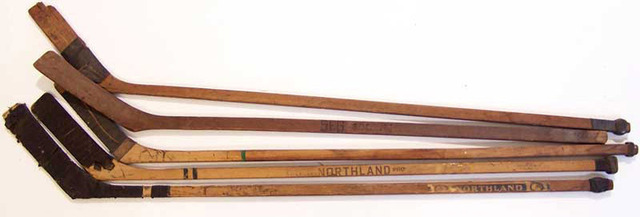 Antique and Vintage Ice Hockey Sticks