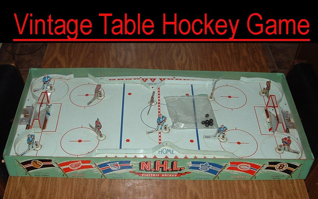 Hockey Table Top Game 1950s Eagle