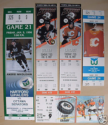 Hockey Tickets 1988