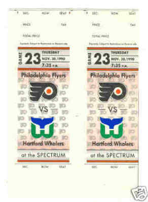 Hockey Tickets 1990