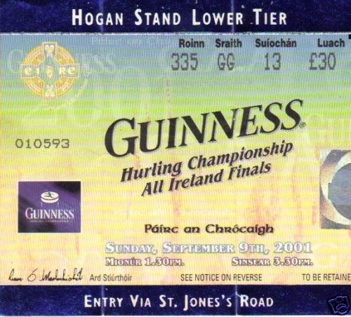Hurling Tickets 1