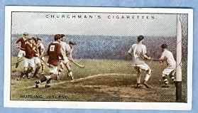 Hurling Card 1929  Churchman's Cigarettes