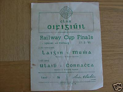 Hurling Program 1965   Railway Cup Finals