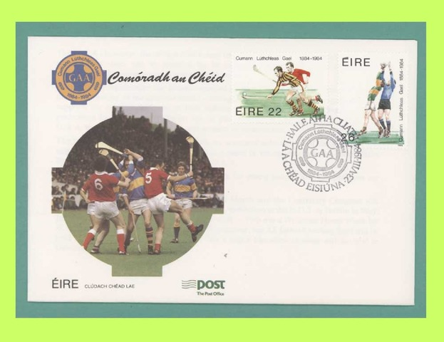 Hurling Stamp Fdc 1984