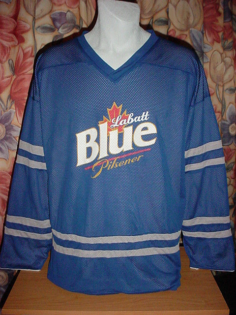 Ice Hockey Beer Jerseys 4 Labatts Blue  7bb3190914a
