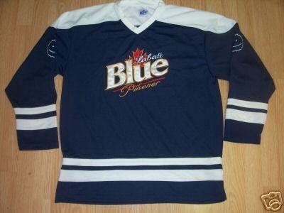 Ice Hockey Beer Jerseys 9 Labatts Blue  9681f191515