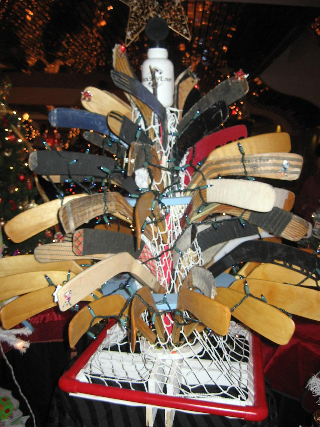 Ice Hockey Stick Christmas Tree Hockeygods