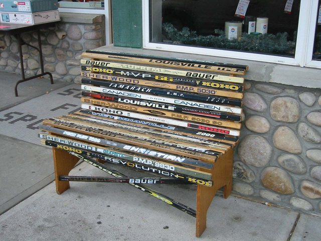 Ice Hockey Stick Bench Seat
