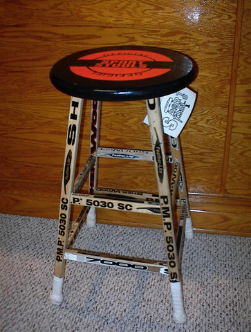 Ice Hockey Stick Stool