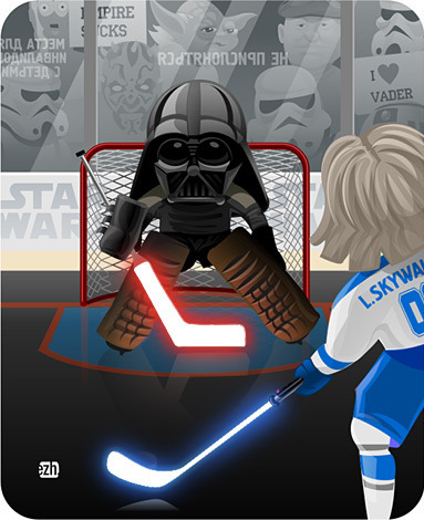 Starwars Hockey - Luke Skywalker vs Darth Vader | HockeyGods