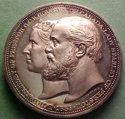 Lord Stanley and Lady Stanley on 1888 Medal -a
