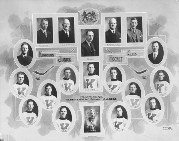 Kingston Junior Hockey Club - Eastern Canada Champions - 1926