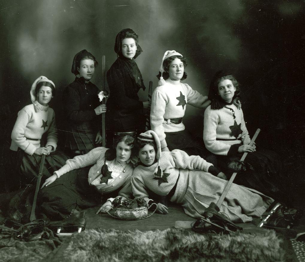Ice Hockey Photo Early 1900s Womens Team Hockeygods