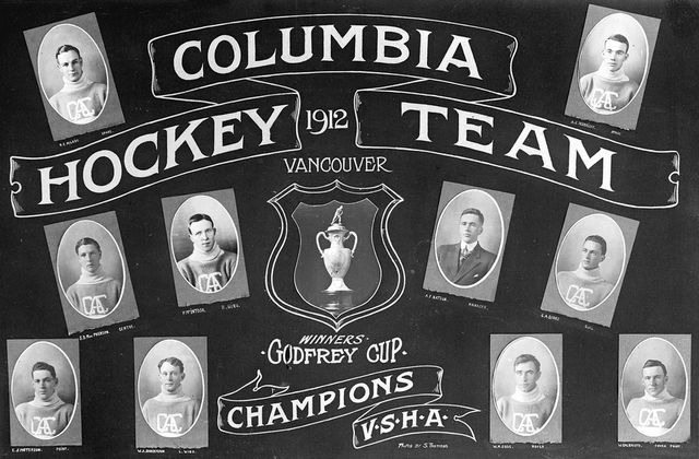 Columbia Hockey Team - Godfrey Cup Champions - 1912