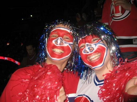 Face Painted Habs Hockey Goddess