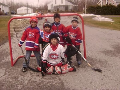 Montreal Canadiens Kids playing Street Hockey