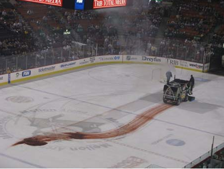 Ice Cleaner Breaks Down And Spills Transmission Fluid On
