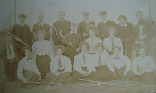 Early 1900s Ladies & Mens Field Hockey Team