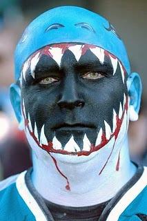 San Jose Sharks Fan In Face Paint 2 Hockeygods